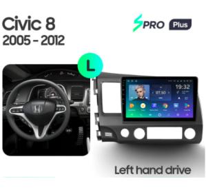 Штатное головное устройство HONDA CIVIC 8 / 2005-2011 / 10 дюйм