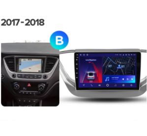 Штатное головное устройство Hyundai Solaris 2017+