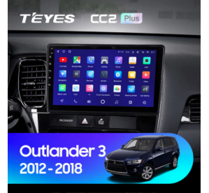 Штатное головное устройство Mitsubishi Outlander / 2012-2018 / iso B / canbus / 9 дюйм