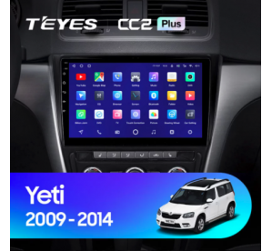 Штатное головное устройство SKODA YETI / 2009-2014 / canbus / 10 дюйм