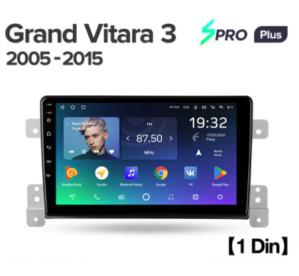 Штатное головное устройство Suzuki Grand Vitara 3 / 2005-2015 / 9 дюйм